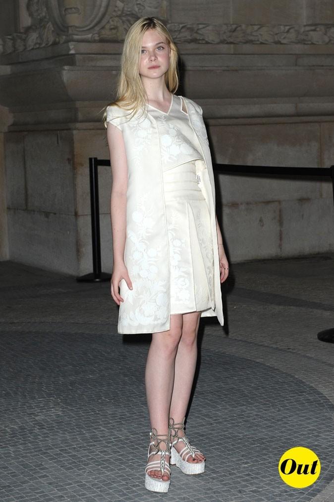 Elle Fanning au défilé Chanel