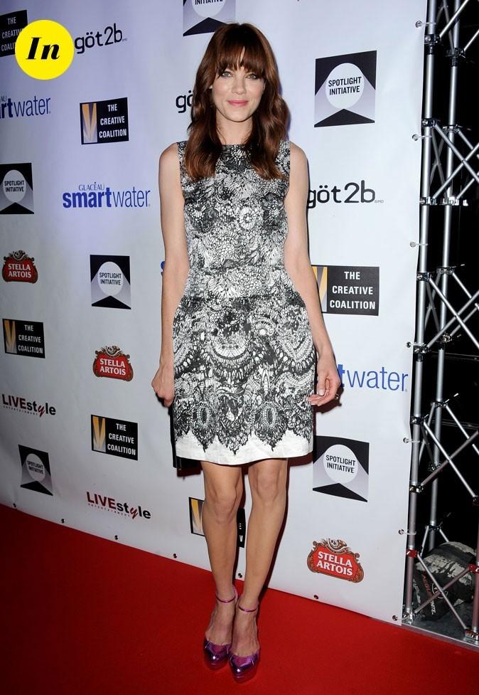 Festival du film de Toronto 2011 : la robe imprimé dentelle et les escarpins métalliques de Michelle Monaghan !