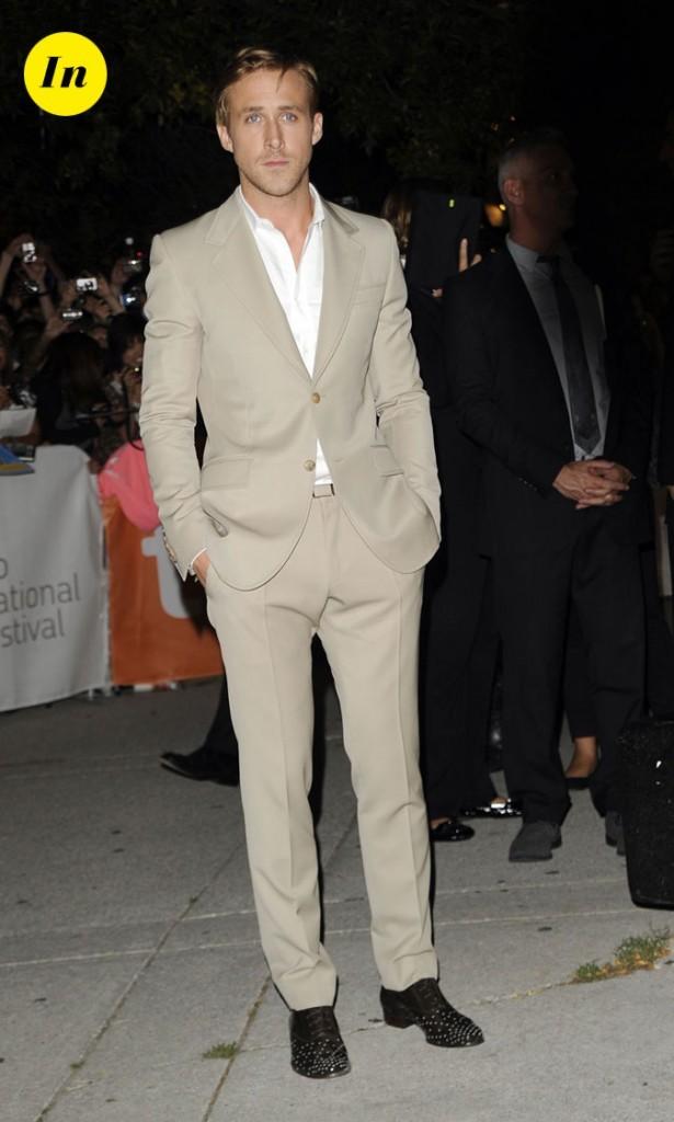 Festival du film de Toronto 2011 : le costume beige et les chaussures cloutées de Ryan Gosling !