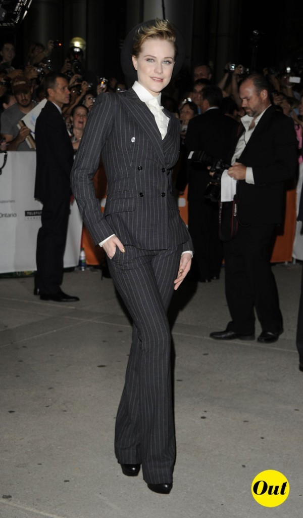 Festival du film de Toronto 2011 : le look masculin-féminin d'Evan Rachel Wood !