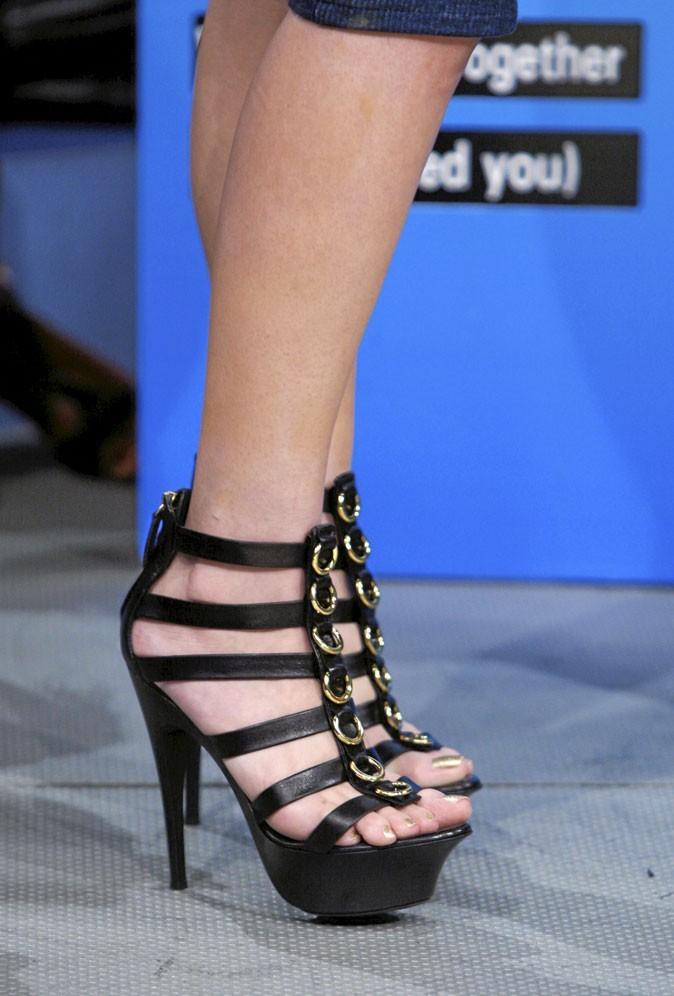 Des sandales noires à talons