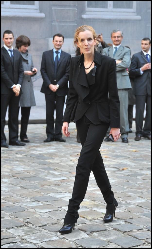 Nathalie Kosciusko-Morizet en total look noir