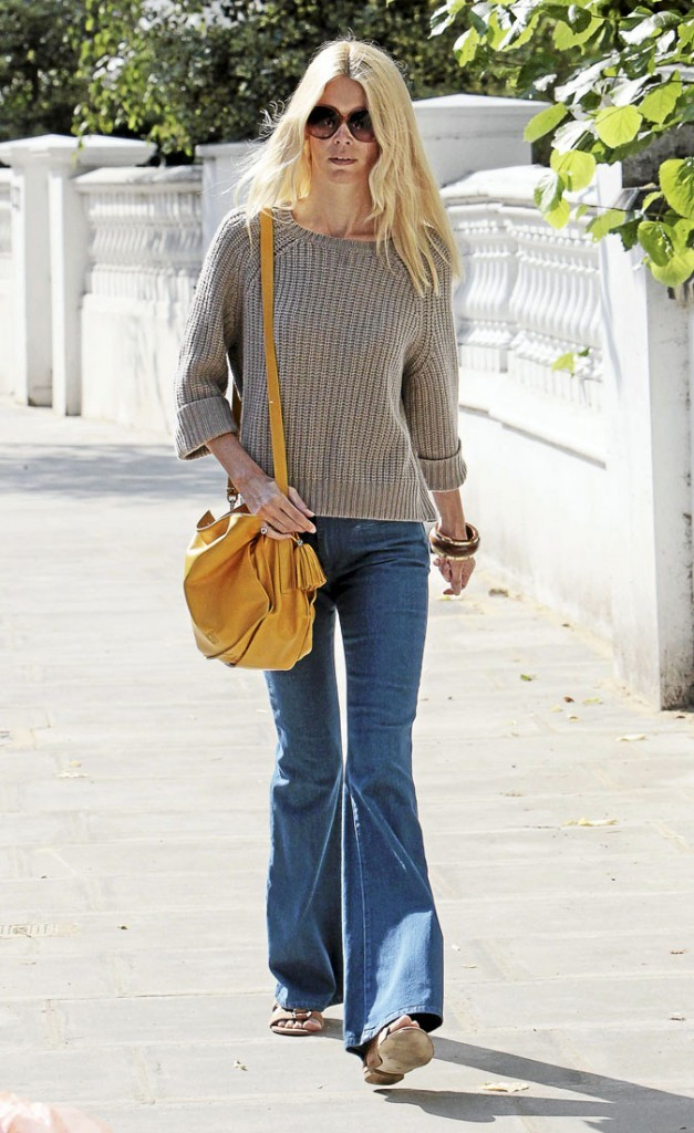 Le pantalon 70's de Claudia Schiffer