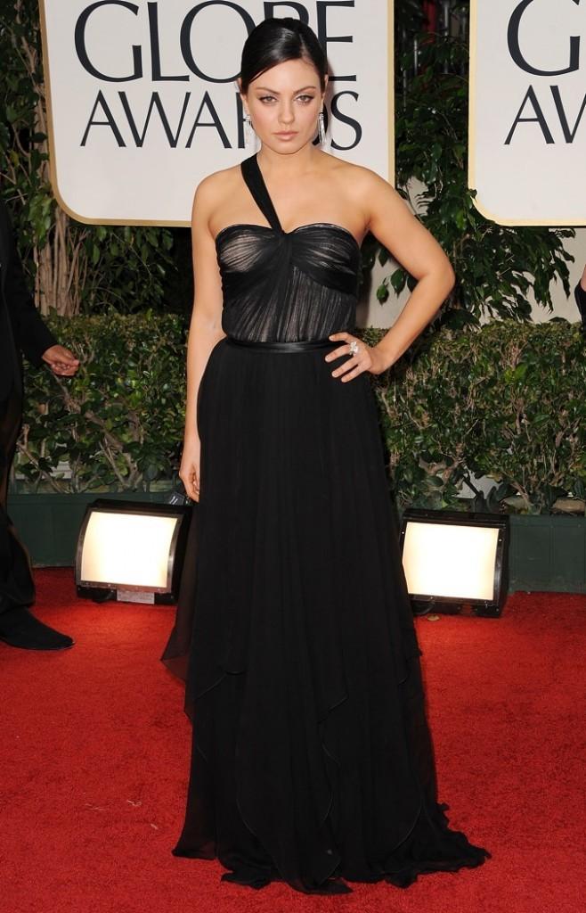 2012: Mila aux Golden Globes Awards.