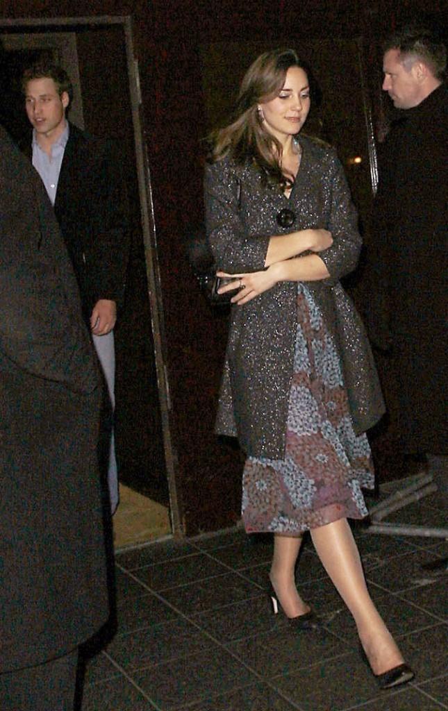 Look de star : la robe chic imprimée de Kate Middleton en janvier 2007