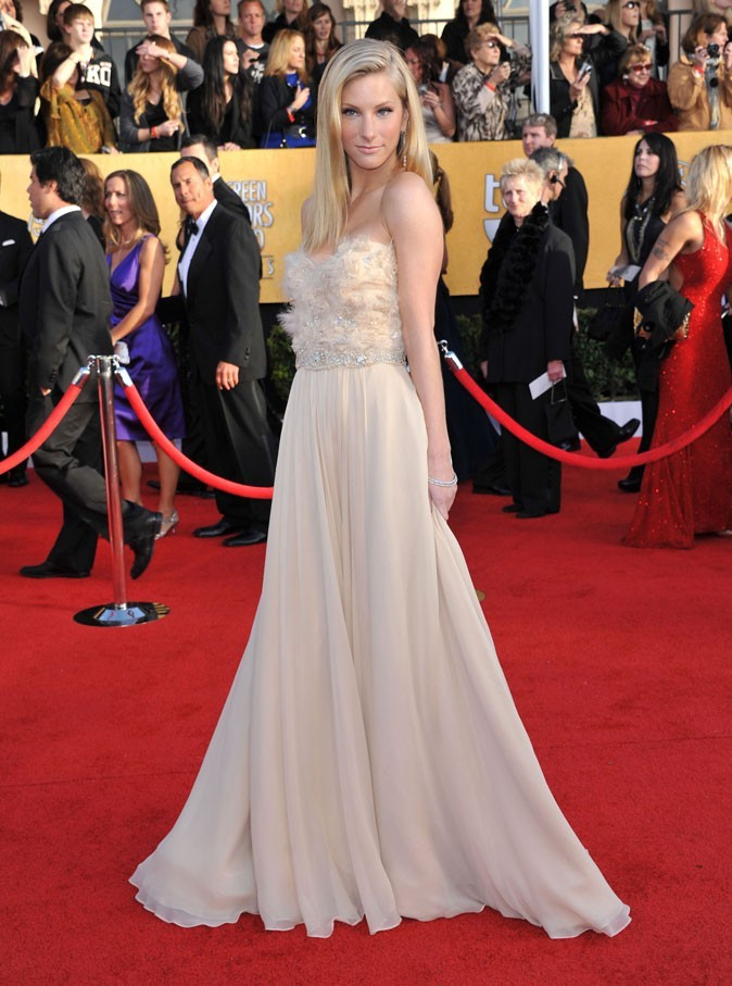 Les stars de Glee en mode glamour : la robe de princesse de Heather Morris
