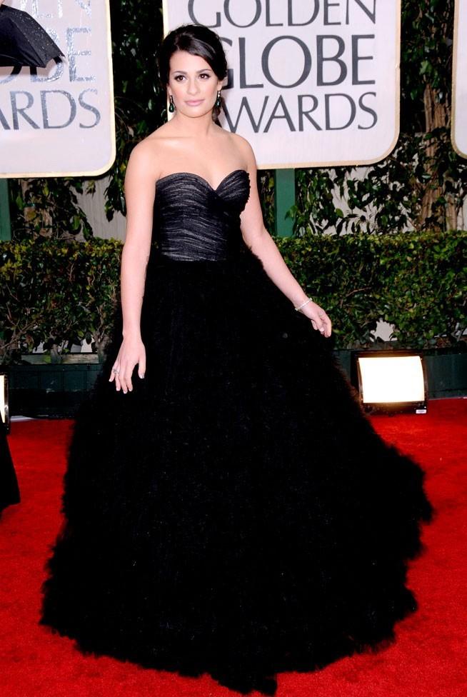 Les stars de Glee en mode glamour : la robe de princesse de Lea Michele