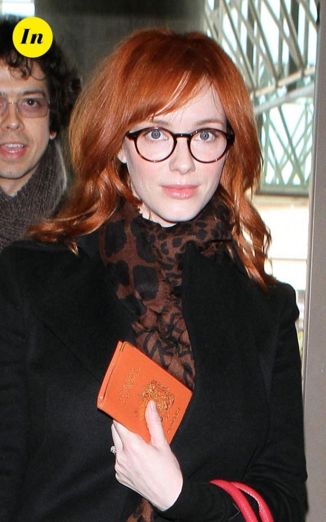 Les lunettes de vue tendance rétro de Christina Hendricks