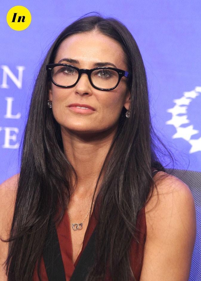Les lunettes de vue tendance Wayfarer de Demi Moore