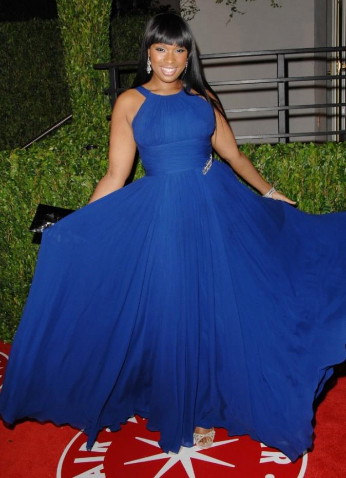 Jennifer Hudson fière de sa robe..
