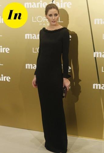 Olivia divine dans sa robe longue noire Dior !