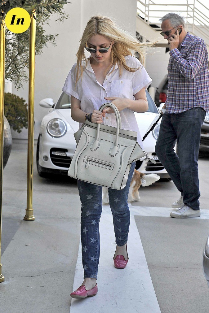 Dakota Fanning se promène dans les rues de Beverly Hills !