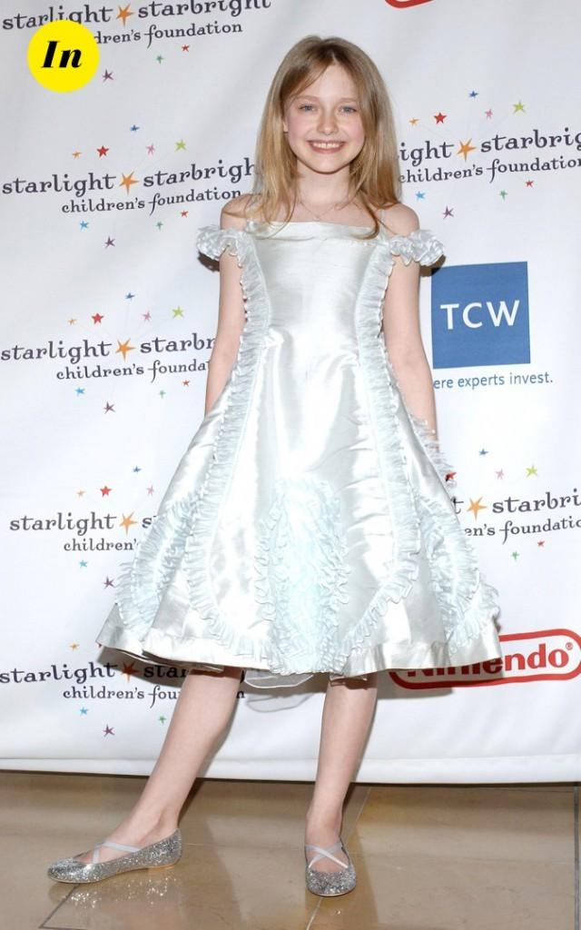 En 2006, elle opte pour une robe de princesse !