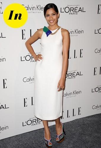 Robe blanche Calvin Klein.