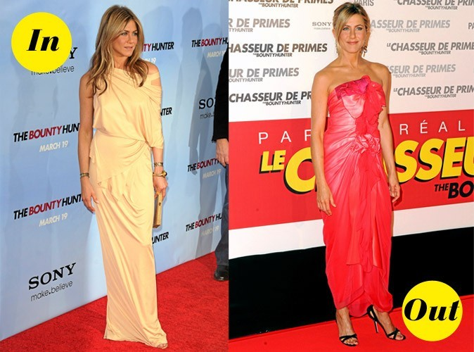 Les looks IN & OUT de Jennifer Aniston !