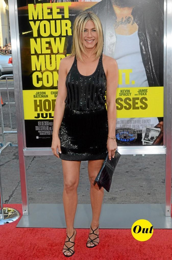 La robe noire strassée de Jennifer Aniston en Juin 2011 !