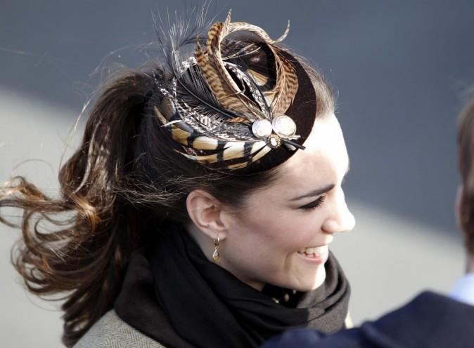 Kate Middleton et son bibi plumes de paon
