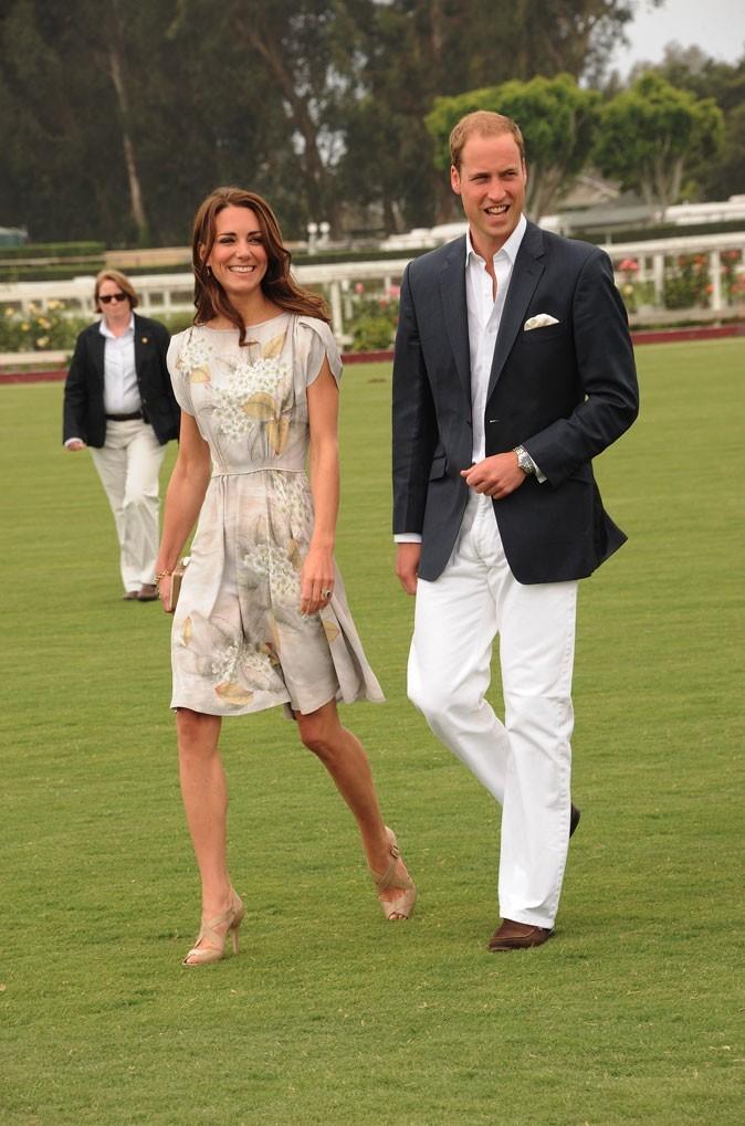 Kate Middleton le 9 juillet 2011 en Californie : une robe imprimée Jenny Packham