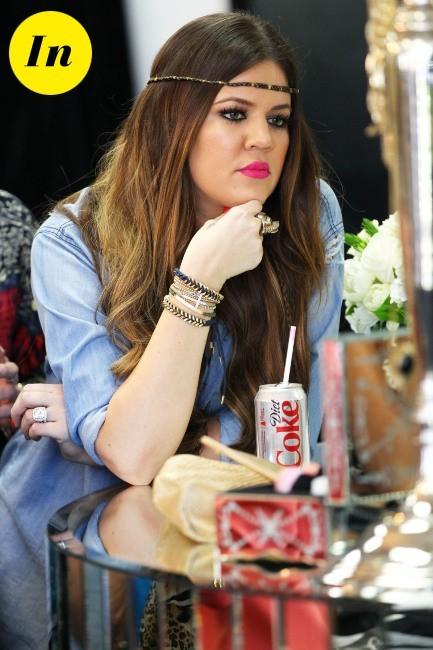 Un soda light : miss Kardashian surveille sa ligne !