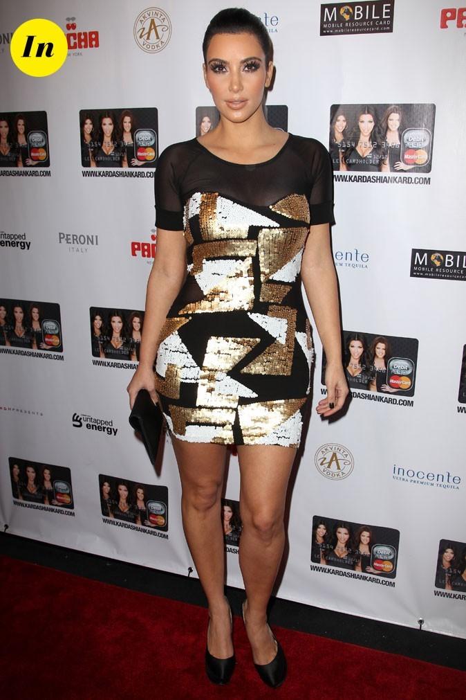 Look de Kim Kardashian : une robe graphique en 2010