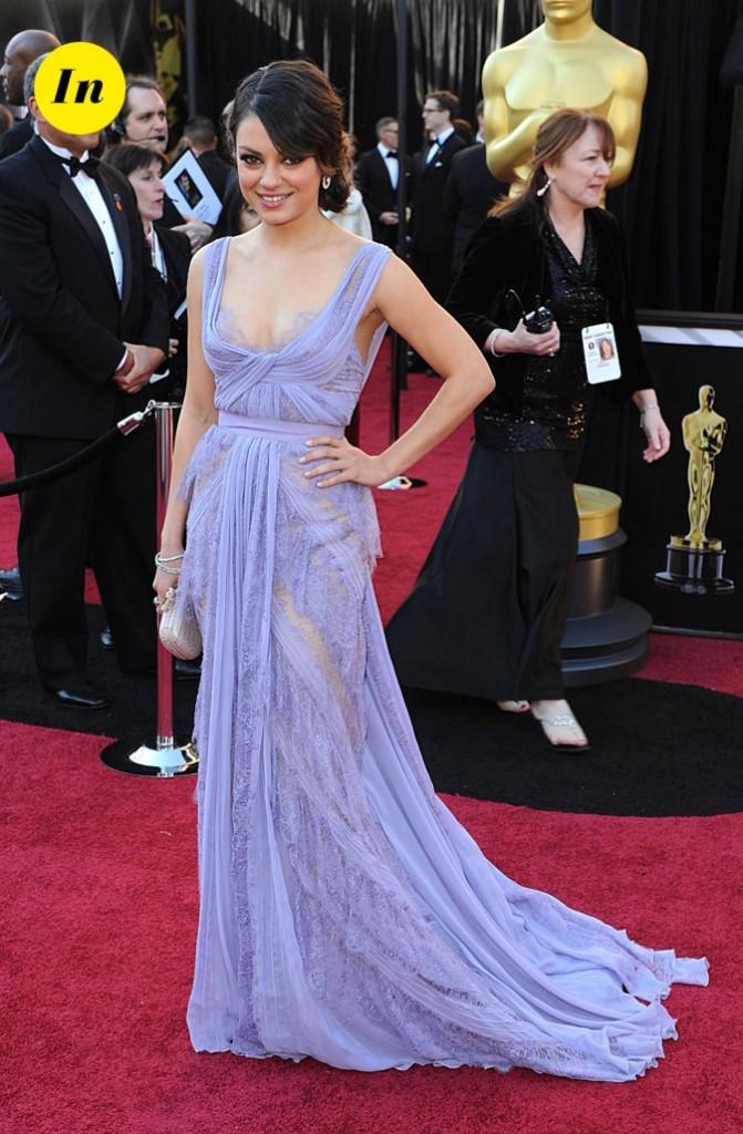 La robe longue romantique lilas Elie Saab de Mila Kunis en Février en 2011 !