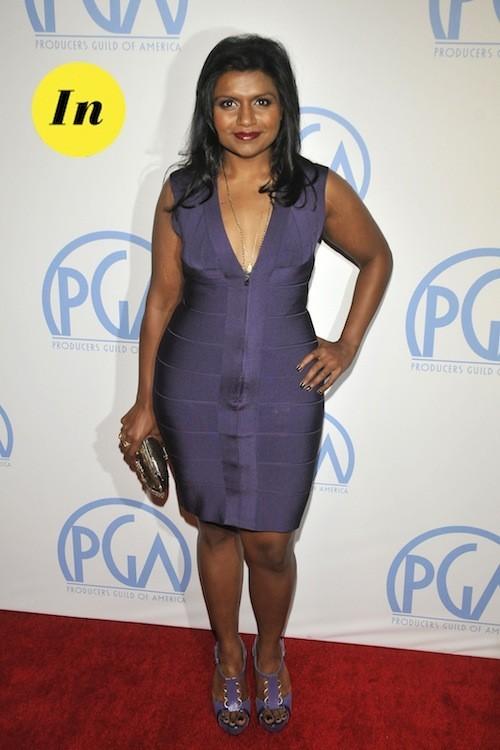 Mindy Kaling : L'actrice porte magnifiquement bien le violet !