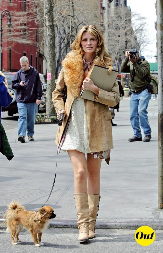 2007 : elle se balade dans les rues de New York avec son chien !