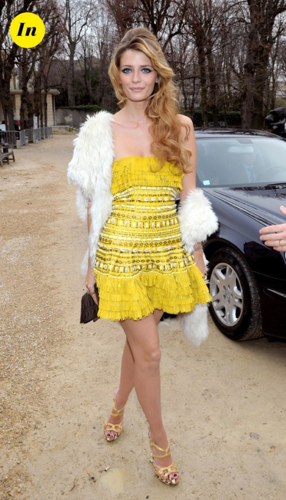 2009 : elle assiste au défilé Elie Saab et Dior à Paris !