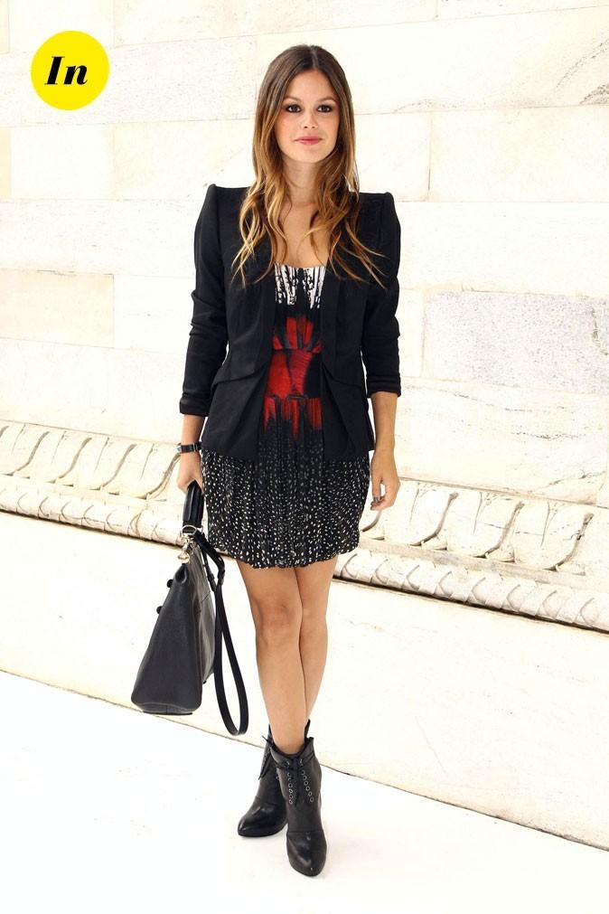 La veste graphique et la robe imprimée de Rachel Bilson en Septembre 2010 !