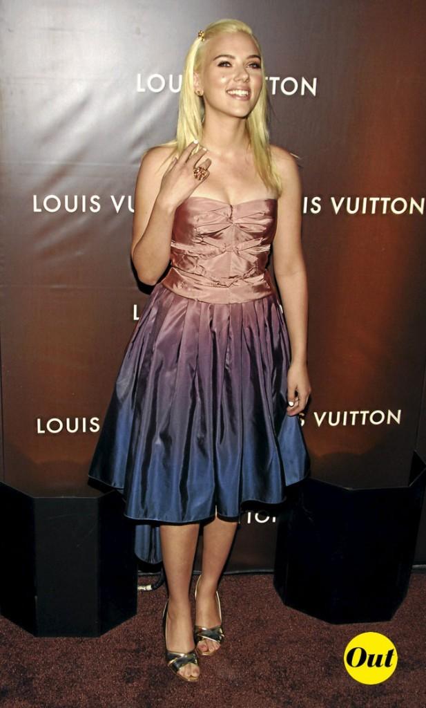 Scarlett Johansson en 2007 : une robe tie & dye