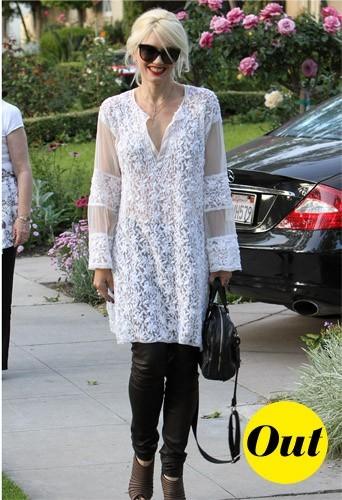 Gwen Stefani en mode napperon