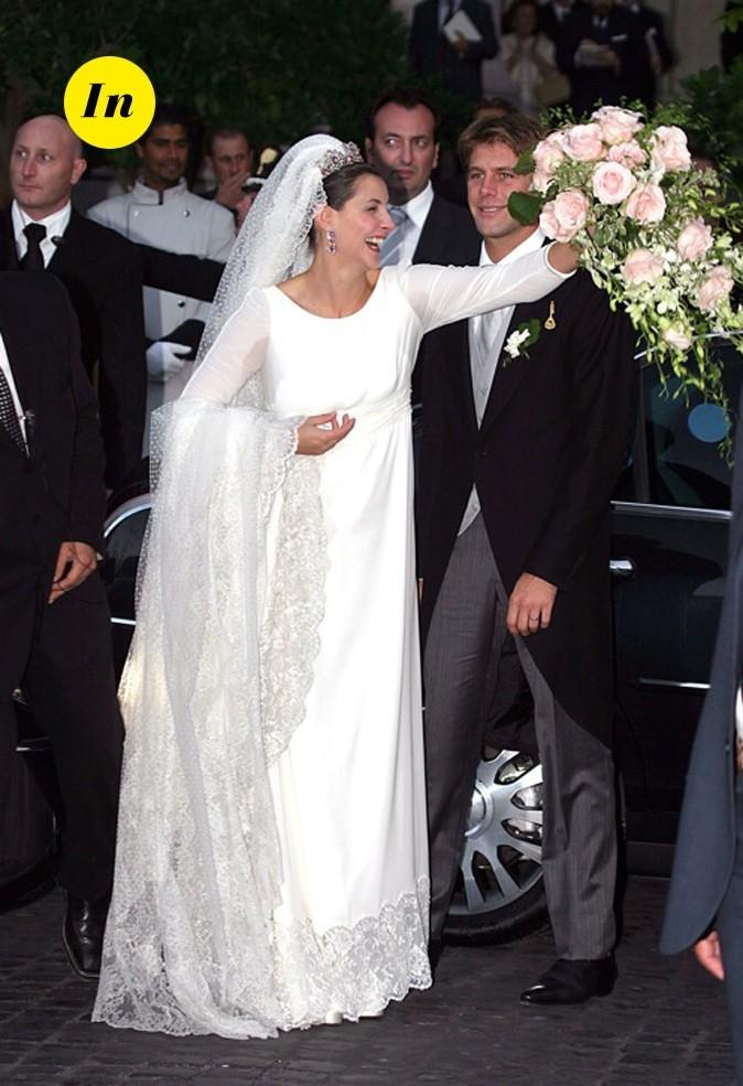 La robe de mariée de Clotilde Courau