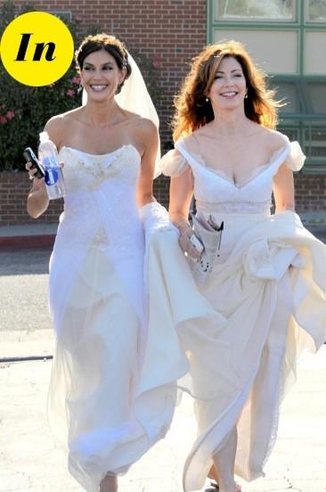 Les robes de mariée de Teri Hatcher et Dana Delany