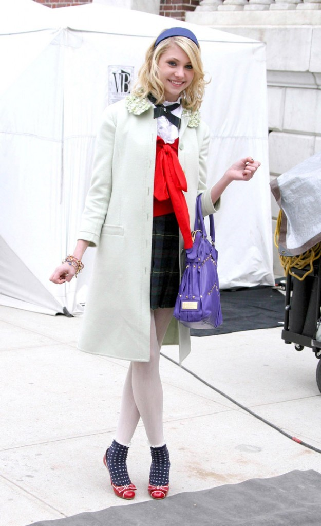 Le look preppy-girly de Taylor Momsen en Mars 2008 !