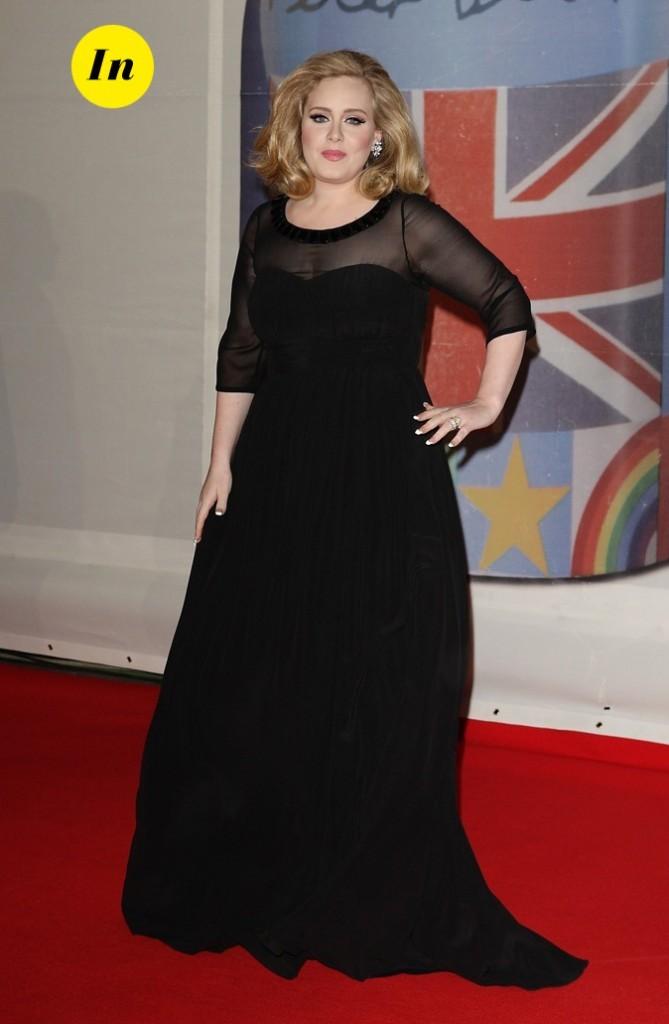Adele en Burberry