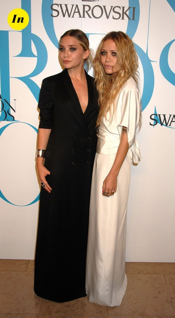 Les looks noir & blanc des soeurs Olsen en Juin 2007 !