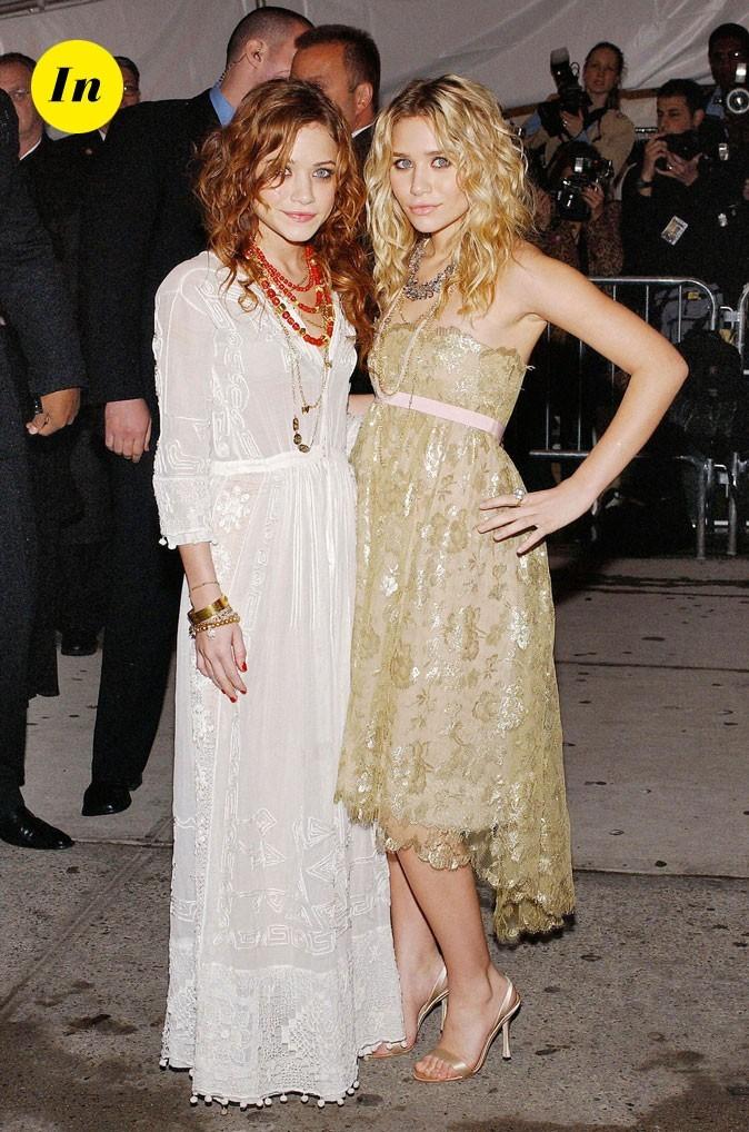 Les robes longues en dentelle des soeurs Olsen en Mai 2005 !