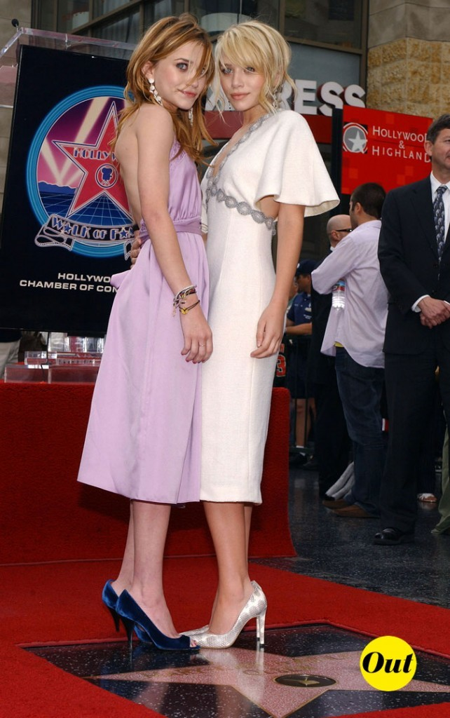 Les robes pastel d'Ashley et Mary-Kate Olsen en Avril 2004 !
