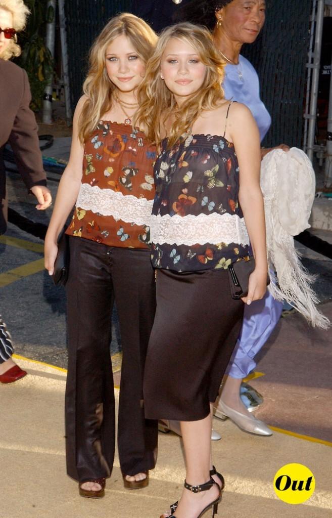 Les tops papillon d'Ashley et Mary-Kate Olsen en Juillet 2002 !