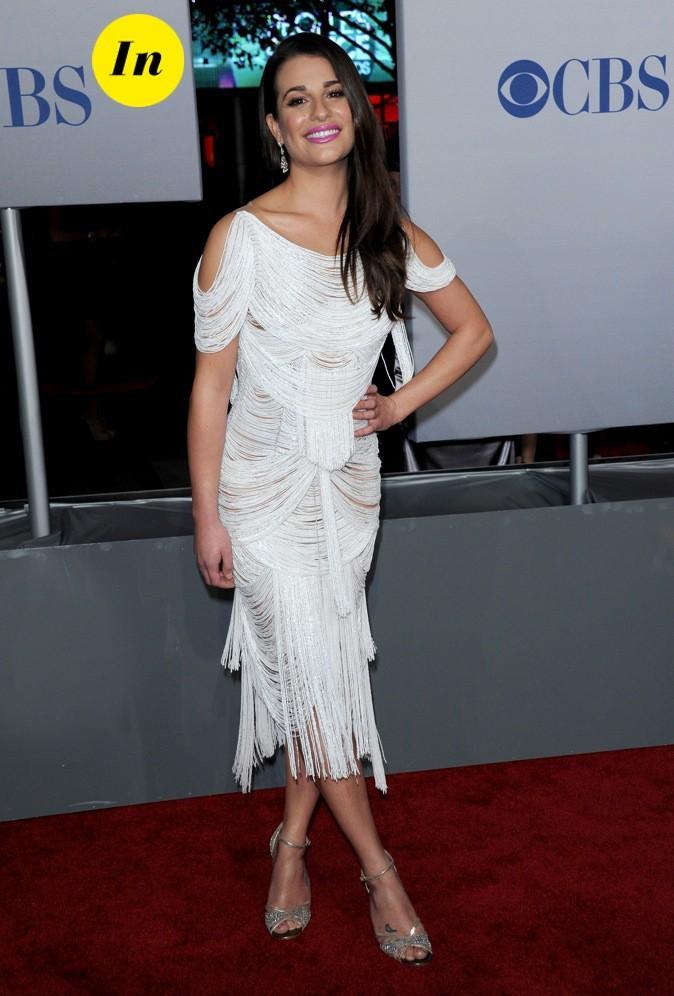 Lea Michele est absolument resplendissante dans cette robe Marchesa