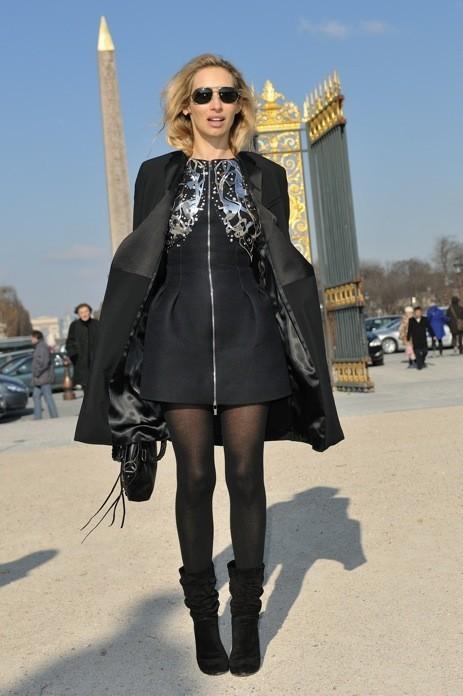 Alexandra Golovanoff en Karl Lagerfeld à Paris
