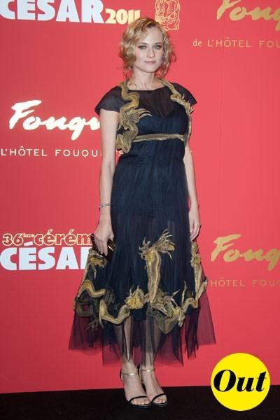 Photos : César 2011 : la robe Chanel de Diane Kruger