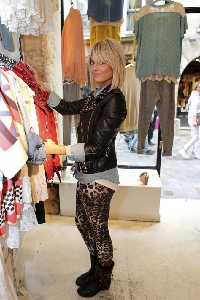Legging leopard et veste en cuir !