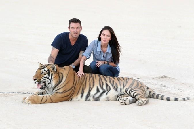2010 : Megan Fox et Brian posent avec un tigre !