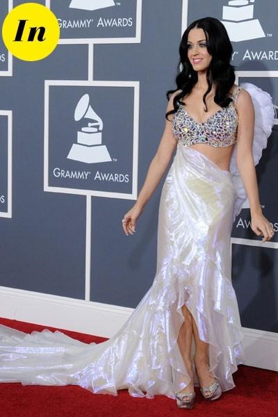Photos : Grammy Awards 2011 : la robe Armani Privé de Katy Perry
