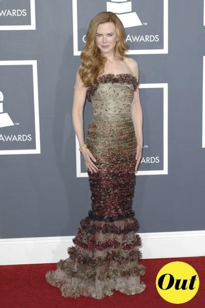 Photos : Grammy Awards 2011 : la robe Jean Paul Gaultier de Nicole Kidman