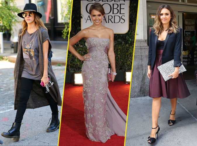 Jessica Alba : d�couvrez son CV Fashion, de casual � chic !