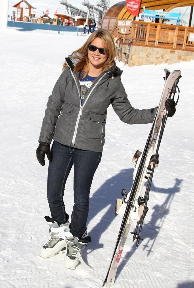 Même au ski, elle a le style !