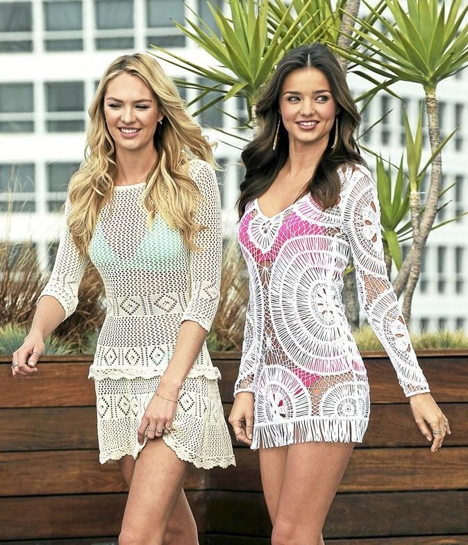 "Candice Swanepoel et Miranda Kerr : ""maille amies"" girls !"