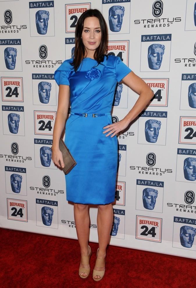 Emily Blunt en bleu klein !